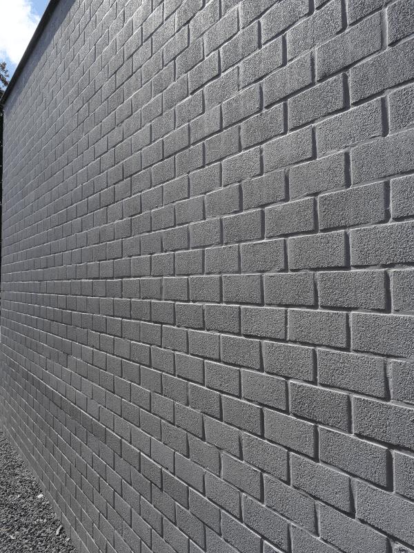 buitenschilderwerken zwarte muur